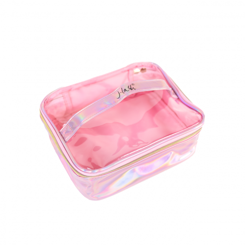 producto: HOLOGRAPHIC MAKEUP BAG PINK
